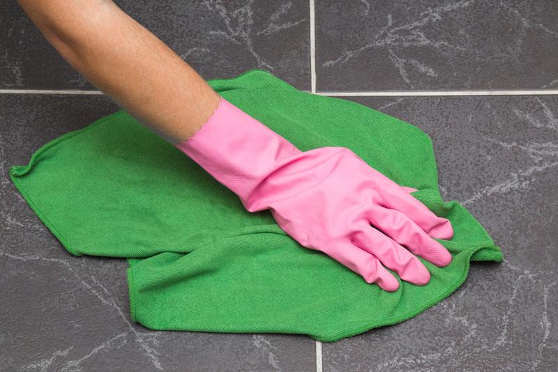 Drying Tile Floor
