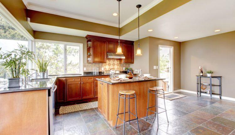 Kitchen Stone Tile Floor