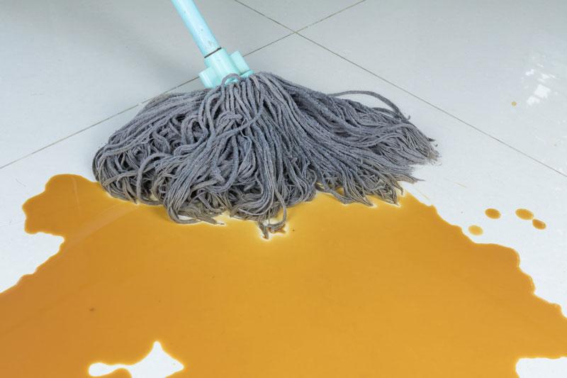 Mop Coffee Spill