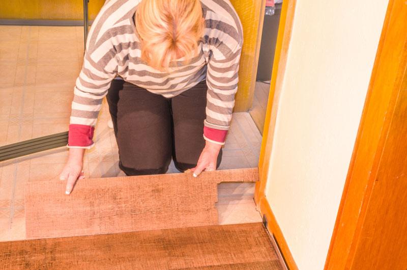 Woman Vinyl Flooring