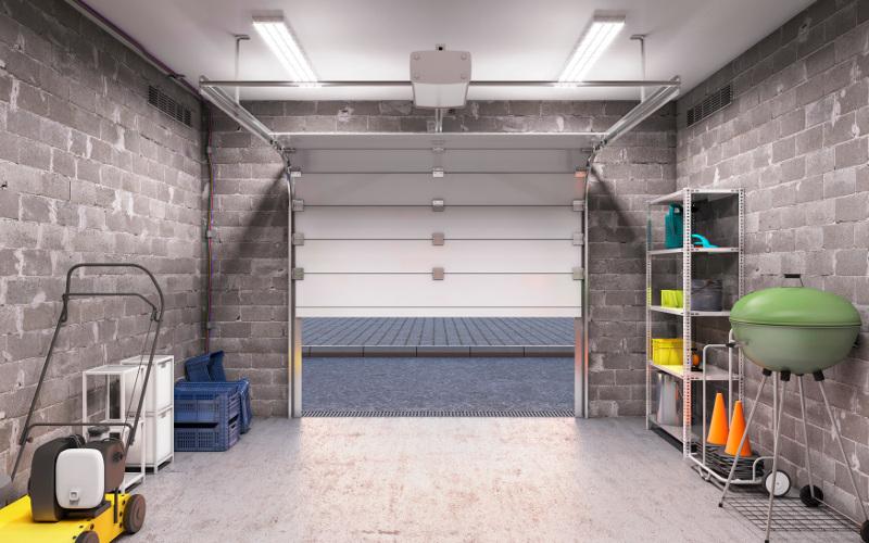 Rubber Flooring in Garage