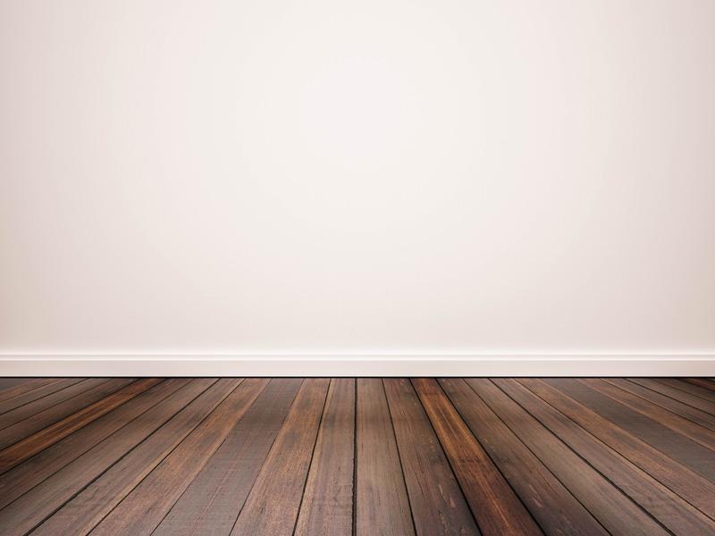 White Wall Wood Floor