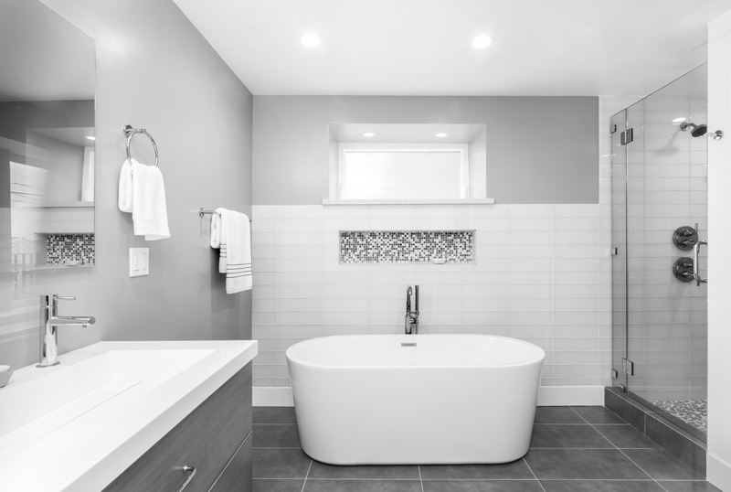 Grey Bathroom Tile