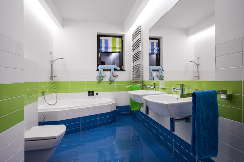 Colored Bathroom Tile