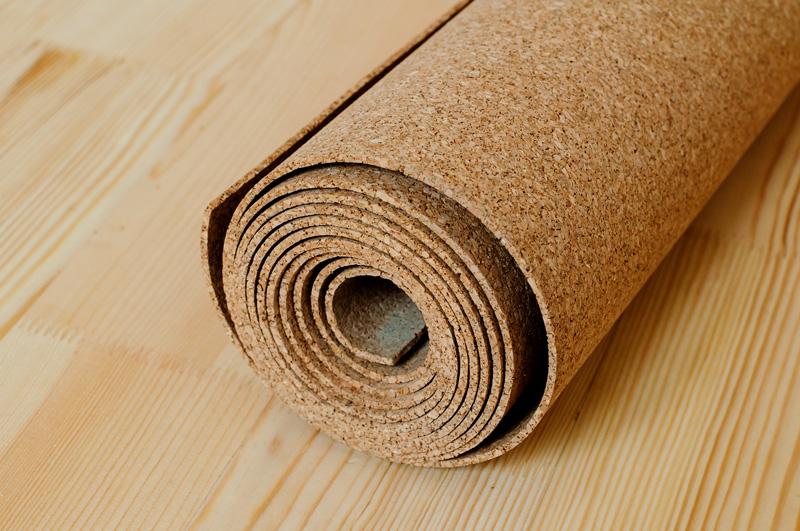 Cork Floor Rolled Up