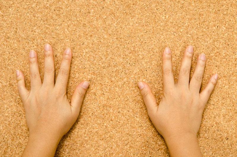 Hands Cork Floor