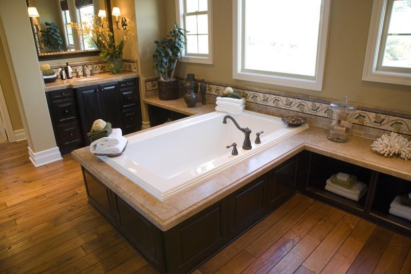 Hardwood Bathroom