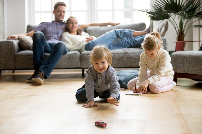 Kids Playing on Floor