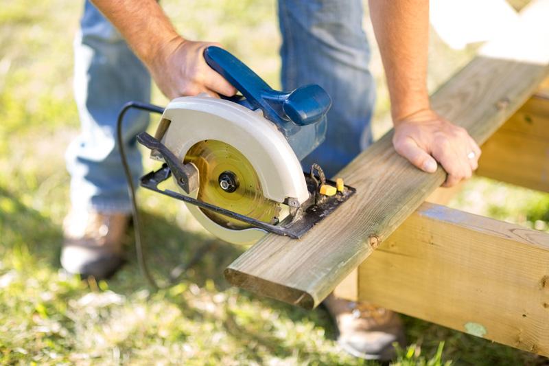Power Tool Cutting Wood