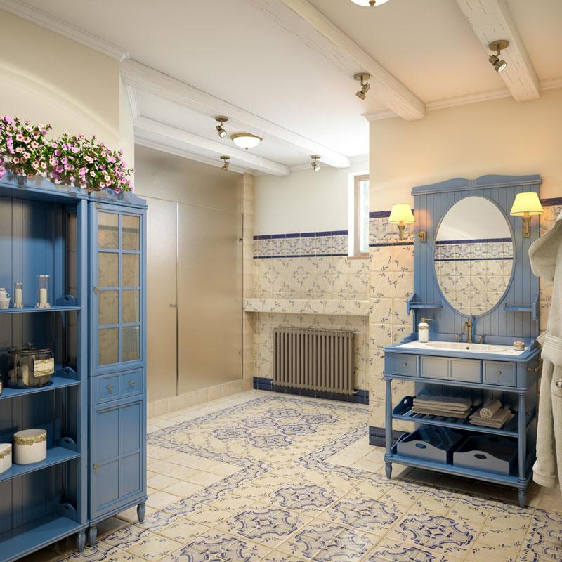 Spanish Tile Bathroom