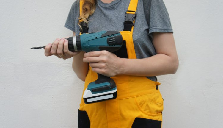 Woman with Power Tool