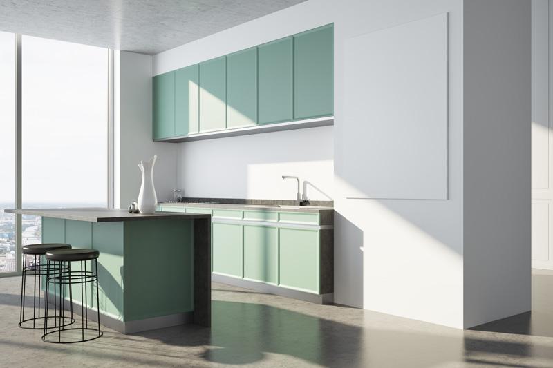 Green Cupboards Concrete