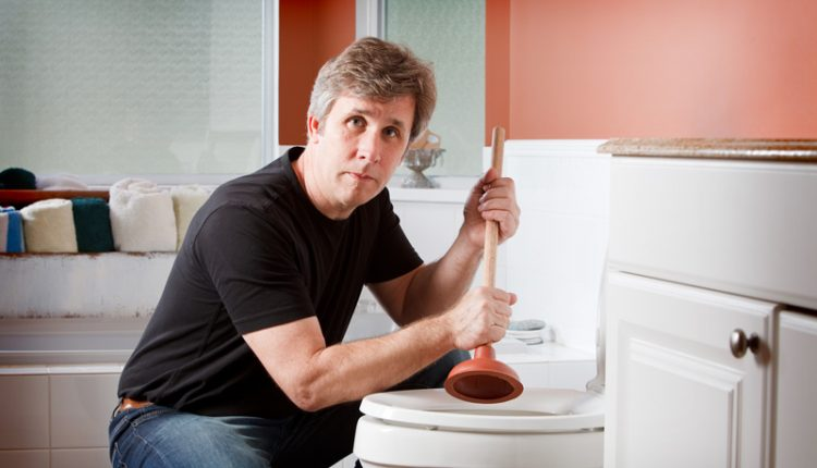 Fixing Clogged Toilet